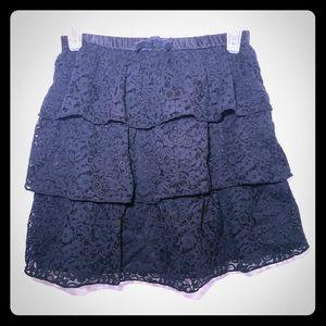 CRAZY 8 Ruffle Skirt Black Size 14 Girls